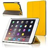 ForeFront Cases® Neue Apple iPad Mini Kunstleder Hülle Schutzhülle / Ständer - Magnetische Auto Sleep/Wake-Funktion für iPad Mini - GELB