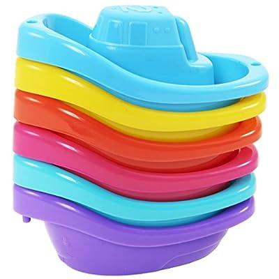 Munchkin Bath Toy, Little Boat Train, 6 Count by Munchkin