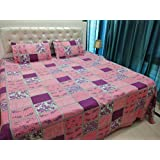 JMT(100% Heavy Stuff Pure Cotton Double Bedsheet With 2 Pillow Cover,size -230x250 Cms, Pillow - 69x46 Cms) - B074D3BB29