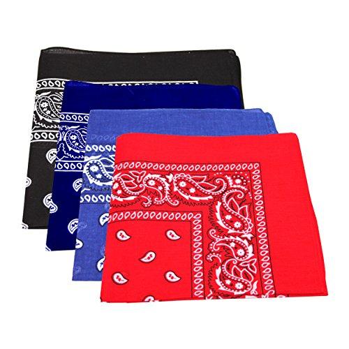 4-x-mens-womens-paisley-pattern-bandana-head-neck-scarf-100-cotton-navy-blue-royal-blue-black-red