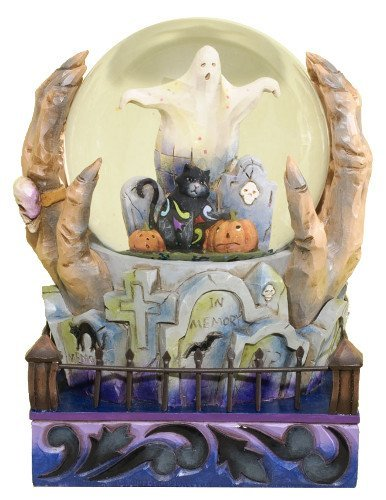 Jim Shore Water Globe: Halloween Is At Hand by Enesco