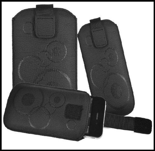 Für Sony Xperia J ST26i Handy Zug Tasche Etui Schutzhülle Case Schwarz