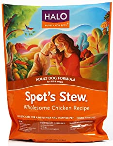 Halo Spot's Stew Natural Dry Dog Food, Adult Dog, Wholesome Chicken Recipe, 18-Pound Bag