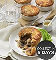 4 Chicken, Bacon & Mushroom Pies