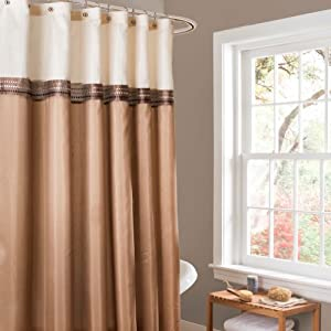 Lush Decor Terra Shower Curtain 72 By 72 Inch Beige Ivory Home