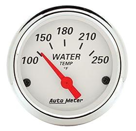 Auto Meter 1337 Arctic White Water Temperature Gauge