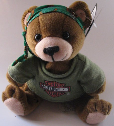 Harley Davidson Bean Bag Plush Manifold Max the Bear - 1