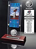 """NFL New York Giants Super Bowl 42 Ticket & Game Coin Collection, 12"""" x 2"""" x 5"""", Black"""