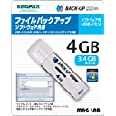 ファイルバックアップソフト付USBメモリ BACKUP USB 4GB