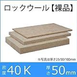 ロックウールボード(裸品)吸音断熱材 「フェルトN」密度40K/厚さ50×605×910mm 8枚入り