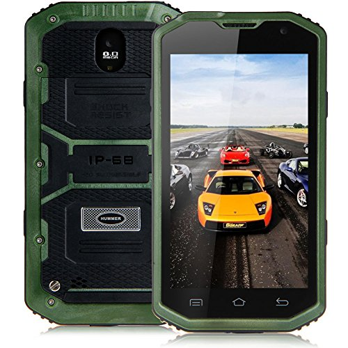 "Padgene 5"" Android 4.2 Wasserdicht 3G Robuste Dual Core Dual SIM Smartphone Touchscreen Handy Ohne Vertrag Mobiltelefon (Grün)"