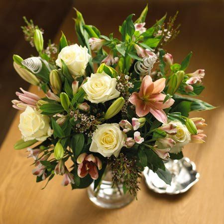 Roses, Lilies and Alstroemeria