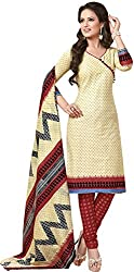 Tripssy Women's Cotton Printed Unstitched Salwar Suit (fb_dm_33, Multi-coloured)