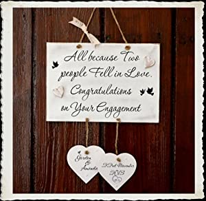 ... Wedding Anniversary Handmade Wooden Plaque Sign Gift W97: Amazon.co.uk