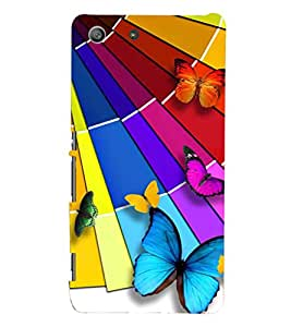PRINTSHOPPII BUTTERFLY Back Case Cover for Sony Xperia M5 Dual E5633 E5643 E5663:: Sony Xperia M5 E5603 E5606 E5653