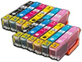 The Ink Squid 2 Sets Of T2431/T2432/T2433/T2434/T2435/T2436 (T24 Xl 'Elephant') Very High Capacity Compatible Ink Cartridges For Epson Expression Photo Xp750 And Xp850 Printers