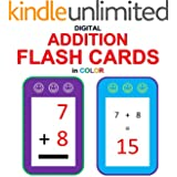 Digital Addition Flash Cards in Color (Ordered and Shuffled 1-9)
