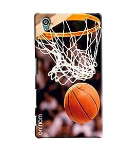 Omnam Basket Ball Net Printed Designer Back Cover Case For Sony Xperia Z5