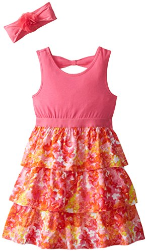 The Children's Place Little Girls' Printed Cha Cha Dress, Vivid, 2T