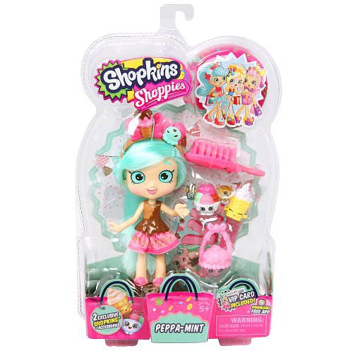 Shopkin dolls best deals shopkins shoppies peppa mint