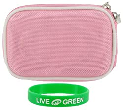 Nylon Hard Shell (Pink) Case Polaroid t1232 12MP Digital Camera Green