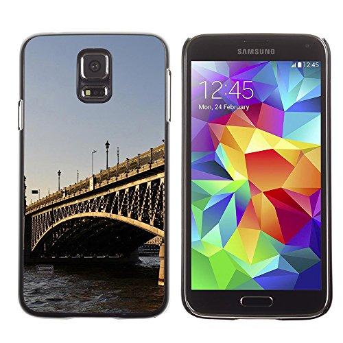 Qcase Slim Pc / Aluminium Sleek Case Cover Armor Shell -- Architecture London Bridge -- Samsung Galaxy S5