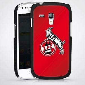 Samsung Galaxy S3 Mini I8190 Case Hülle Cover Schutzhülle HardCase black - 1. FC Köln rot