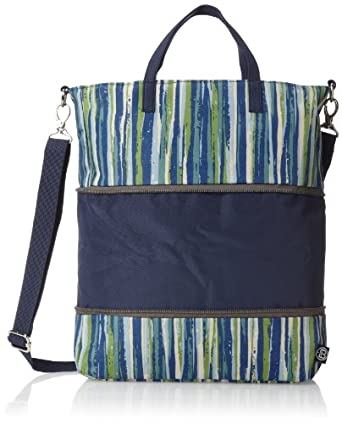 Beyond a Bag Demi Expandable Tote, Stripe/navy, One Size