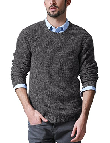 Match Men's Long Sleeve Turtleneck Pullover Sweater #Z1526(US XL (Tag size 3XL),1526 Grayish black)