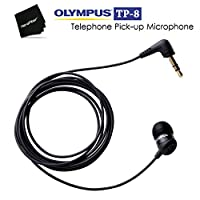 Olympus TP-8 Telephone Pick-up Microphone - Compatible with Landline Phones and Cellphones