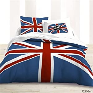 housse de couette 220x240 2 taies union jack les douces nuits de ma cuisine. Black Bedroom Furniture Sets. Home Design Ideas