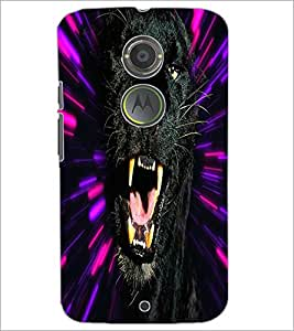 PrintDhaba Jaguar D-4378 Back Case Cover for MOTOROLA MOTO X2 (Multi-Coloured)