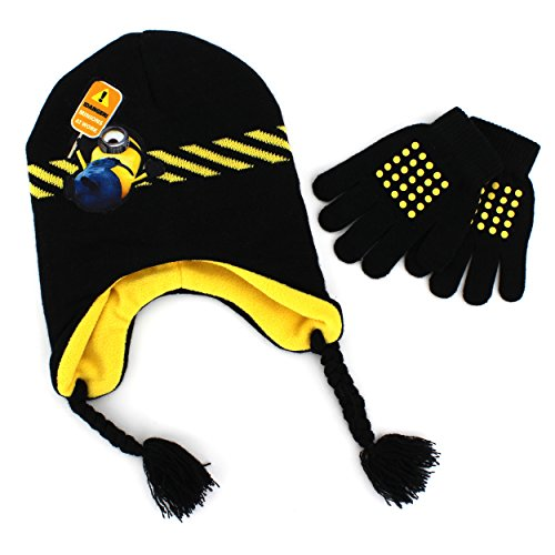 Accessory Innovations Boy's Despicable Me Minions At Work Laplander with Glove Set, Multi, One Size