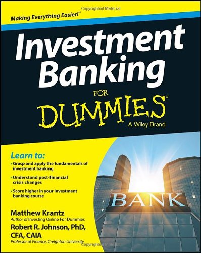 Investment Banking For Dummies front-978136