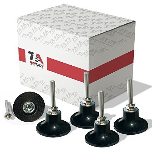 5 Pack of 3 inch Conditioning Disc Pad Holder Assembly by TruBuilt 1 Automotive - 1/4'' Shank - Speed-Lok TR Quick-Change attachment - Compatible with 3M ROLOC Scotch-Brite Brand Discs (1 4 Die Grinder Sander compare prices)