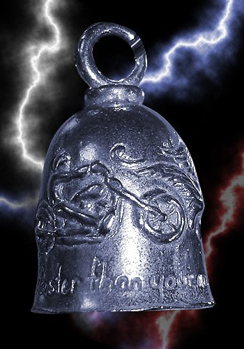 Never Ride Faster Then Your Angel Can Fly Guardian Biker Bell