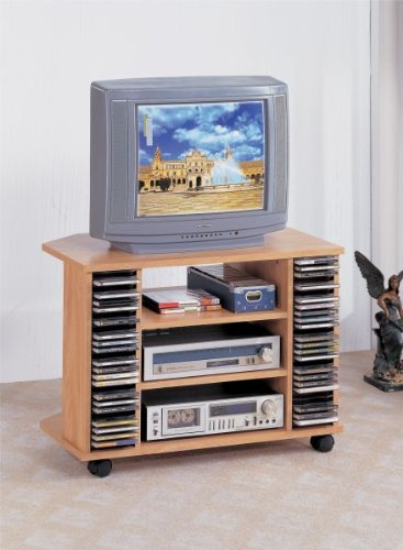 Beautiful TV/CD Cart in Wooden Finish PDS F40403