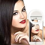 ETvalley Selfie Ring Light LED Ring Light Supplementary Light for Smartphones White Light Work with all Smartphones Apple Samsung Sony Google Color White