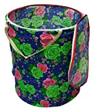 Kuber Industries Foldable Drum Laundry Basket (Multicolor)