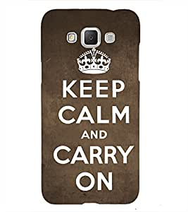 Nice Quote On Keep Carm 3D Hard Polycarbonate Designer Back Case Cover for Samsung Galaxy Grand Max