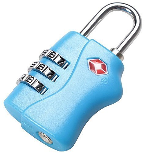 Sinide Mini TSA Approved Lock 3 Digits Metal Combination Best Luggage Padlock For Travel Safety and Security - Lock Alert, Heavy Duty, Assorted Colors Lock Safe Protection (Mini Fridge With Code compare prices)