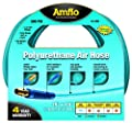 """Amflo 12-25E Blue 300 PSI Polyurethane Air Hose 1/4"""" x 25' With 1/4"""" MNPT Swivel Ends And Bend Restrictor Fittings from Amflo"""