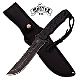 NEW! MASTER USA FIXED BLADE HUNTING KNIFE WITH NYLON SHEATH 11.75 INCH OVERALL