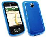 FLASH SUPERSTORE LG OPTIMUS ONE P500 FROSTED PATTERN GEL SKIN COVER/CASE BLUE