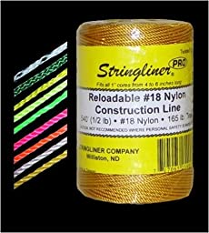 STRINGLINER COMPANY 35406 Twisted Construction Line, Fluorescent Orange