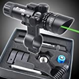 Outside Adjustment Green Laser Sight Dot Scope with Free 20mm Dovetail Mount 8 Figure Mounts