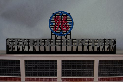 Small Model Ge General Electric Animated Lighted Billboard