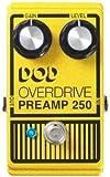 【 並行輸入品 】 DOD Analog Overdrive プリアンプ 250 ギターエフェクトペダル with True-Bypass & LED