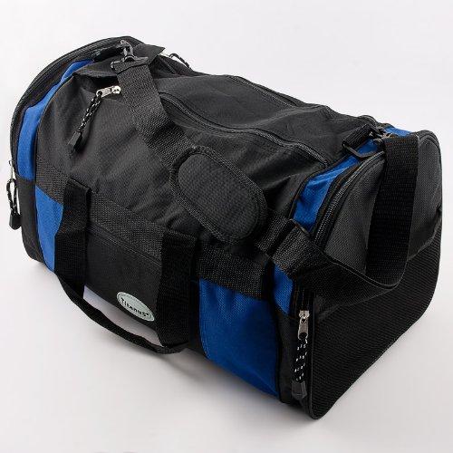 Relaxdays Sporttasche Reisetasche Tasche blau-schwarz