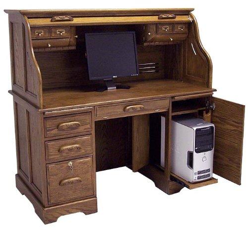 Buy Low Price Comfortable Oak Roll Top Computer Desk